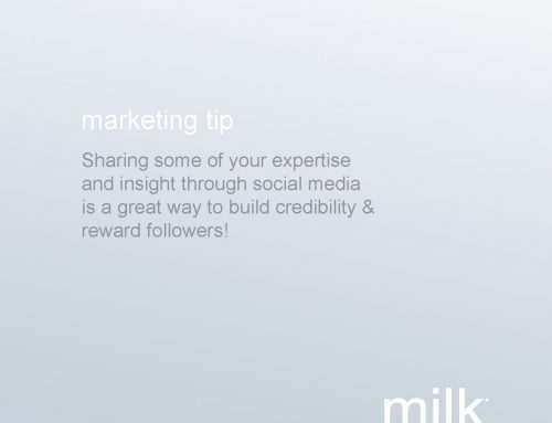Tip: Share expertise to build credibility!